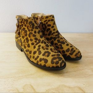 TIME AND TRU LEOPARD PRINT BOOTIES SZ 6.5